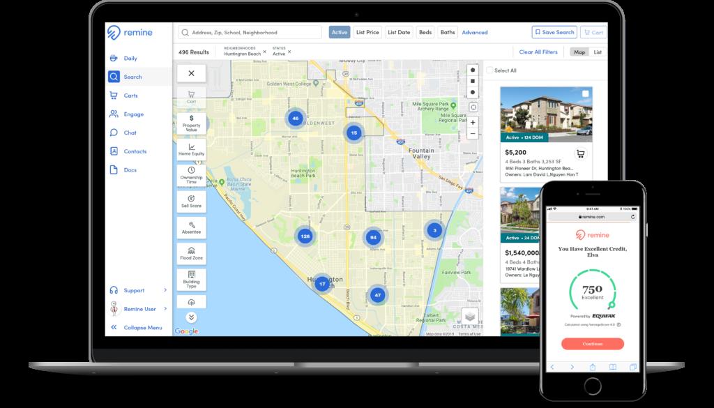 Search Agent Laptop Huntington Beach Client Mobile Credit Score